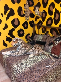 Bed with Dolls and Leopard