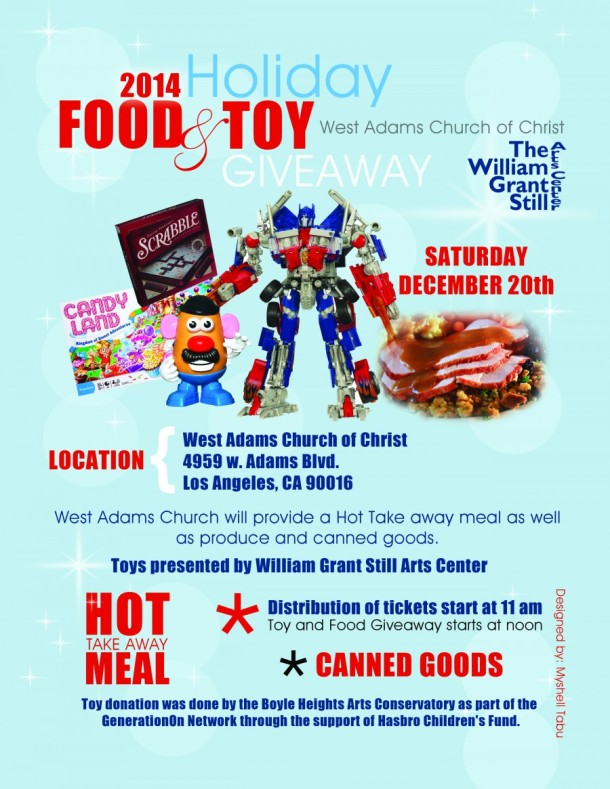 Holiday Food and Toy Giveaway