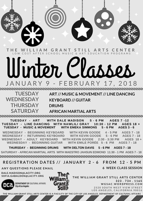 Registration for 2018 Winter Classes and 2018 Winter Class Schedule
