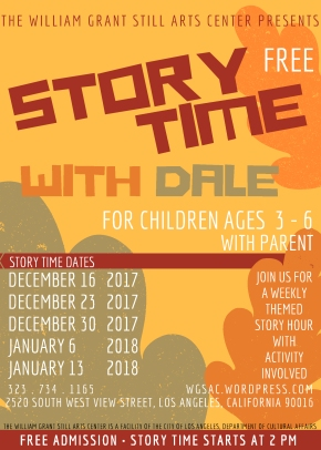 The William Grant Still Arts Center Presents STORY TIME with Dale Guy Madison