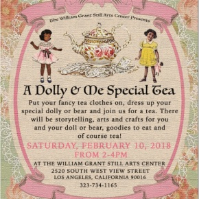 Saturday, February 10th, 2018 A FREE Dolly & Me Special Tea with Doll Show Curator Stephanie Moore!!! From 2PM – 4PM