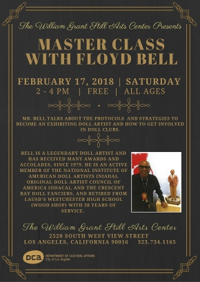 FREE Master Class with Floyd Bell Saturday, February 17, 2018  From 2PM – 4PM