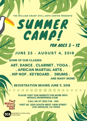 WILLIAM GRANT STILL  ARTS CENTER ART & JAZZ SUMMER CAMP 2018