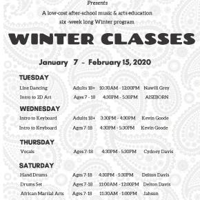 Registration for William Grant Still Arts Center's Winter 2020After School Music & Art Education Program, Monday 12/16/19 – Saturday12/21/19, From 12:00 PMto 4:00PM