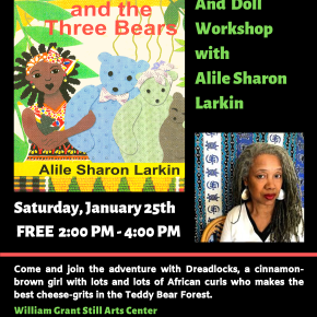 Bring Your Little Ones by  for a Book Reading, Signing, and Paper Doll Workshop with Alile Sharon Larkin on Saturday 01/25/20FREE