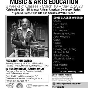 Registration for WGSAC Free Spring Music + Art After School Program is Saturday02/29/20